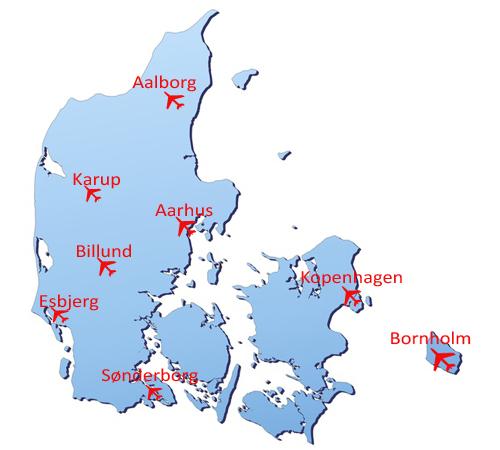 dänemark flughafen karte Kurzinfo über die Anreise nach Dänemark